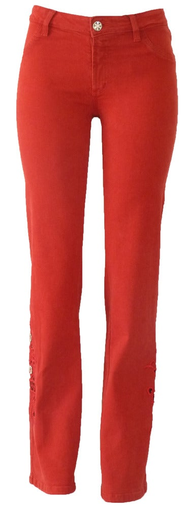 Red Richelieu Jeans 11S2352P