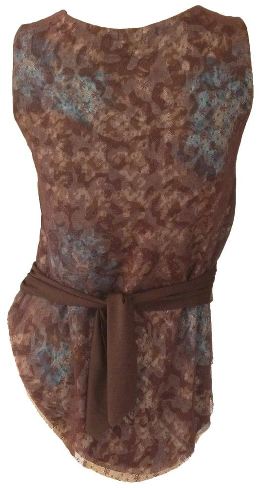 Chocolate Leather Denim Vest 12W113V