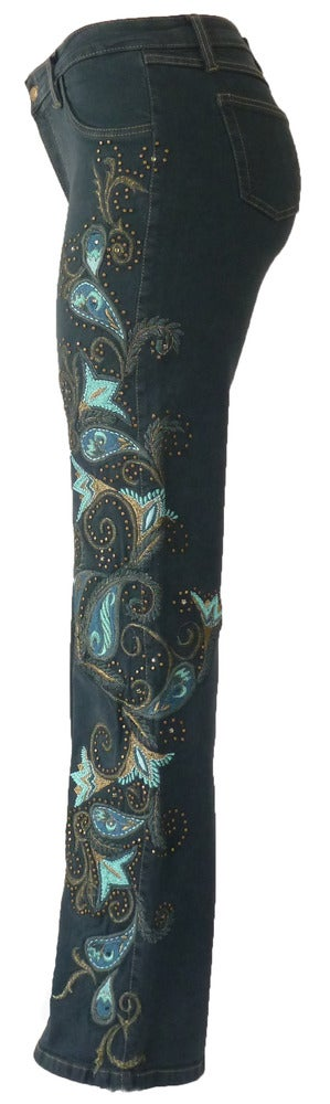 Teal 'Carnival' Jeans 12W121P