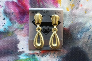 Image of Gold Drops, Zipper Pull Earrings