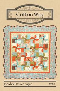 Image of Pinwheel Posies Paper Pattern #884