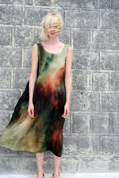 Image of Abstracted Sky Long Dress