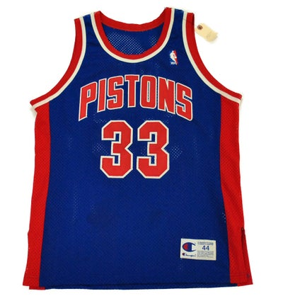 "Image of Detroit Pistons ""Grant Hill"" Authentic Rookie Jersey (1994-1995)"