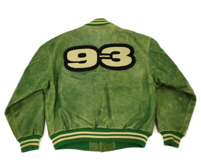 "Image of Phat Farm ""93"" Leather Varsity Jacket (1993)"
