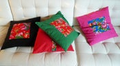 Image of folk art throw pillow cases - 2