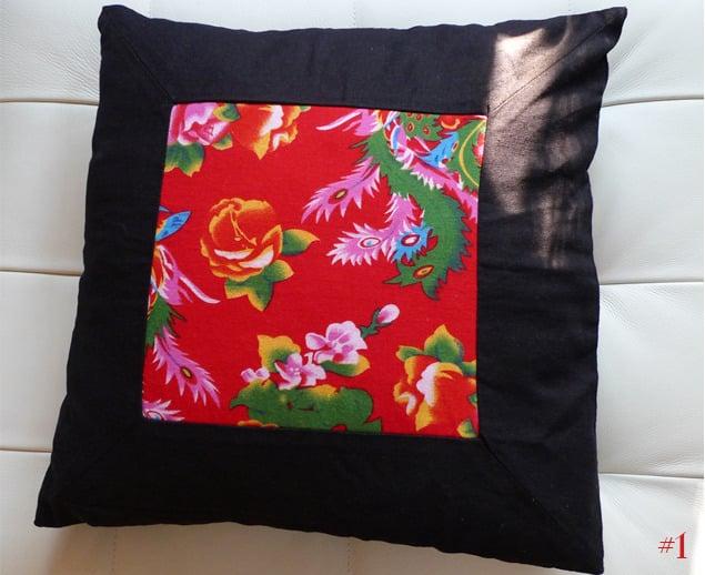 Image of folk art throw pillow cases - 2
