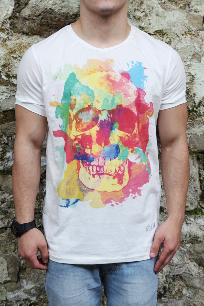 Image of PAINTED SKULL T-SHIRT