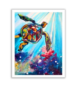 """Image of Just Keep Swimming - 12"""" x 16"""" high quality print"""
