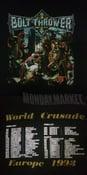 Image of BOLT THROWER ' World crusade european 1993 tour' LS shirt