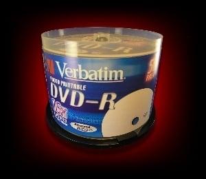 Image of 50 DVD-R 4.7GB 120Min 16x lightscribe Verbatim