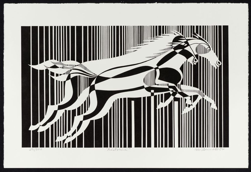 """Image of """"Airborne"""" Lithograph"""
