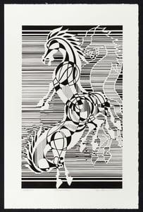 "Image of ""Poseidon"" Horse Lithograph"