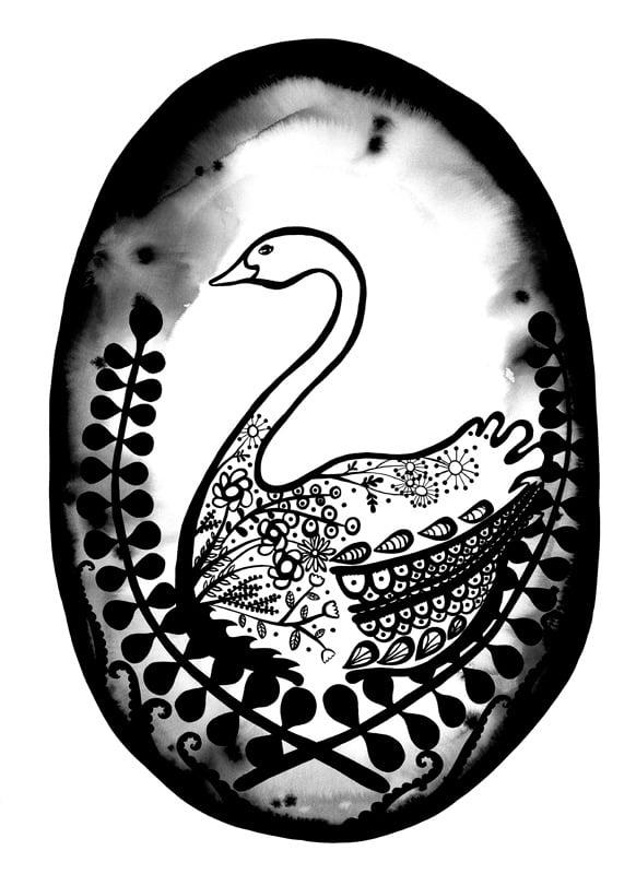 Image of Black Swan Print