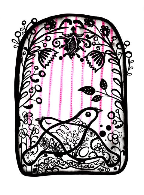 Image of Microeca Leucophaea Print