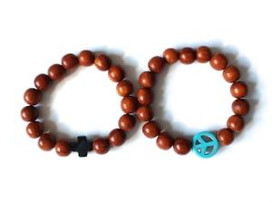 Image of wooden bracelets