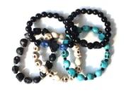 Image of skull bead bracelets
