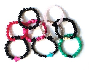 Image of cross bead bracelets