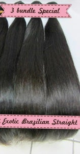 Image of 3 BUNDLE SPECIALS Brazilian Straight