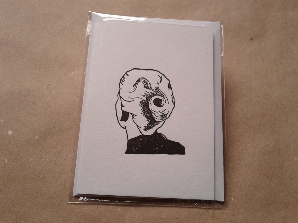 Image of Letterpress Greetings Card - Black Vertigo Card