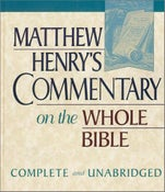 Image of Matthew Henry's Commentary on the Whole Bible