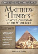 Image of Matthew Henry's Concise Commentary on the Whole Bible