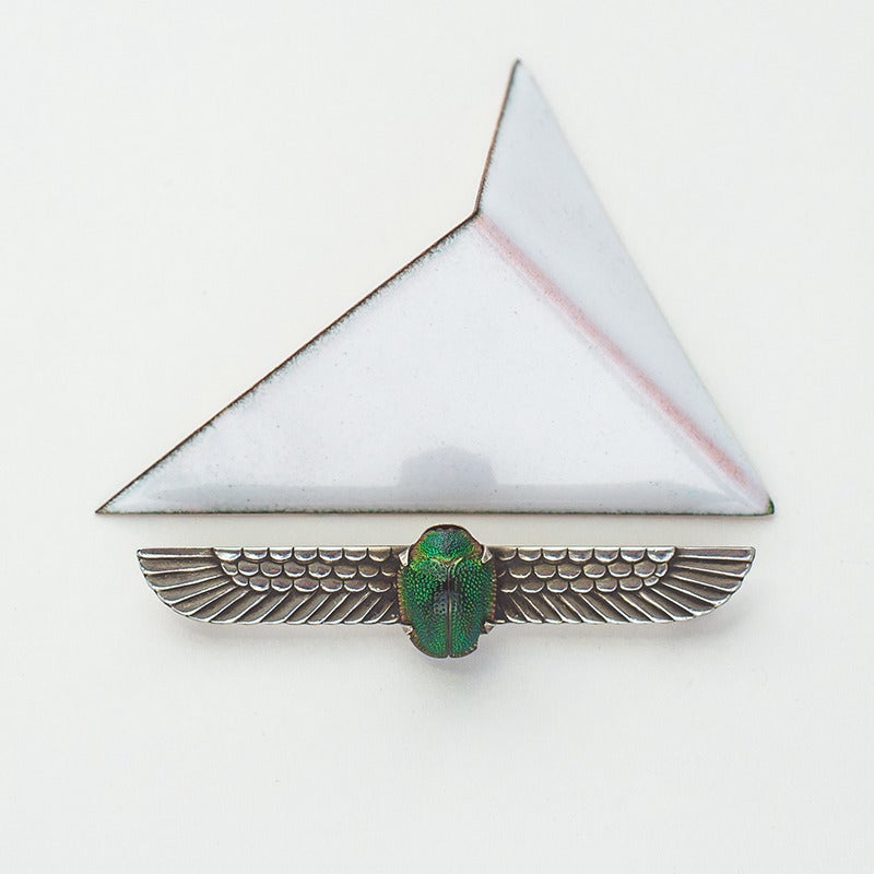 Image of Antique Egyptian Revival Scarab Pin