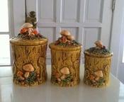 Image of Vintage Mushroom Canisters