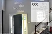 Image of Shut the front door Foyer Sign