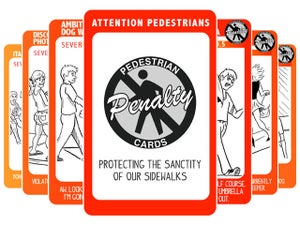Image of Pedestrian Penalty Cards (14 Card Set) PDF + Extras