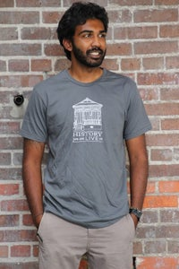 """Image of """"History You Can Live In"""" Tee - Charcoal Grey"""