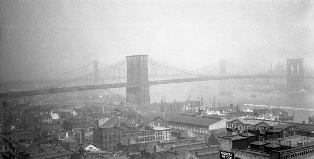 Image of View Of The Brooklyn Bridge 1930's