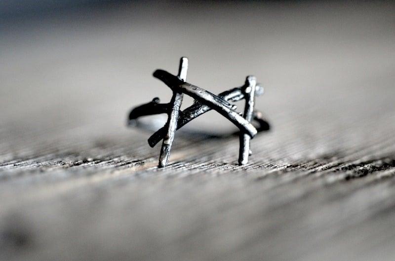 Image of MANNAZ rune ring