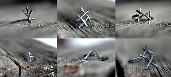 Image of Rune Rings<br>Set of 6