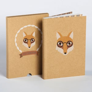 Image of Fox Boxed Blank Notebook