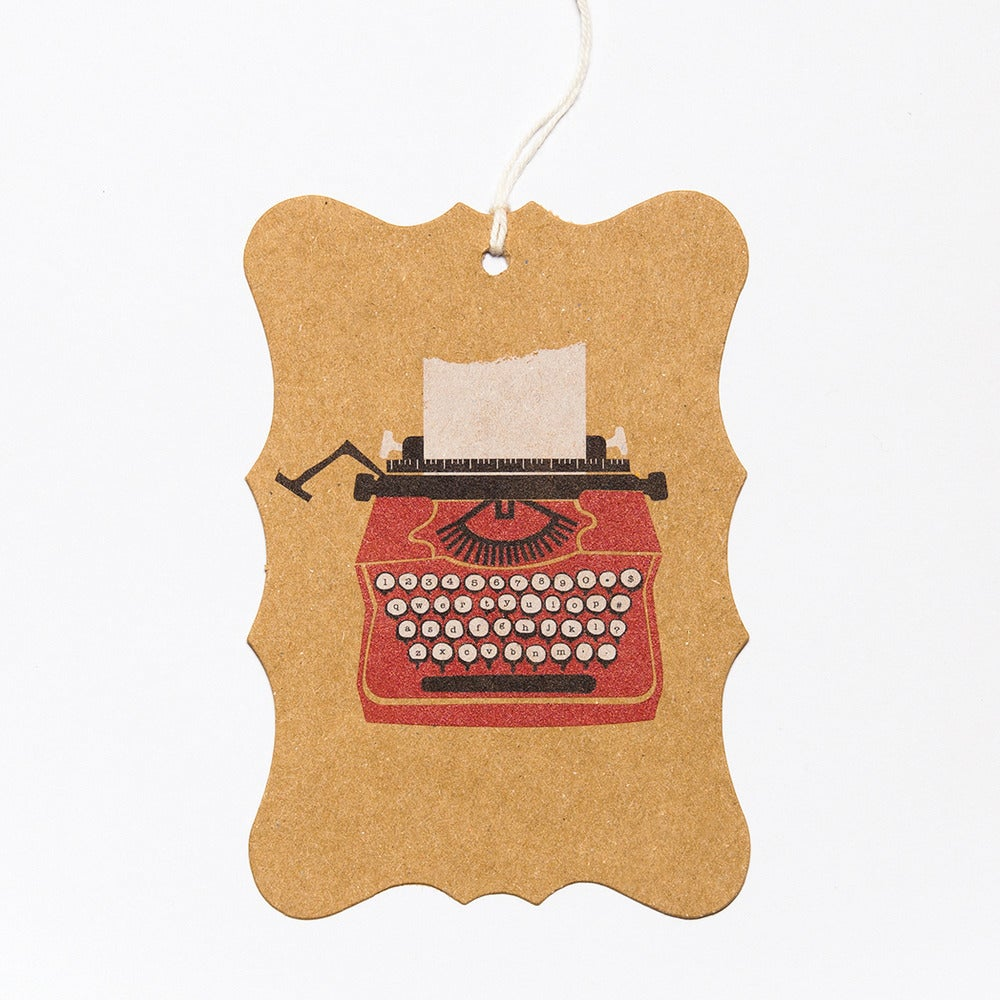 Image of 6 Typewriter Gift Tags