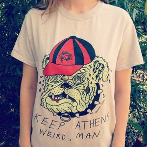 Image of GLOW-IN-THE-DARK! KEEP ATHENS WEIRD T-SHIRT