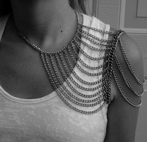 Image of Silver Multi-Chain Shoulder Harness