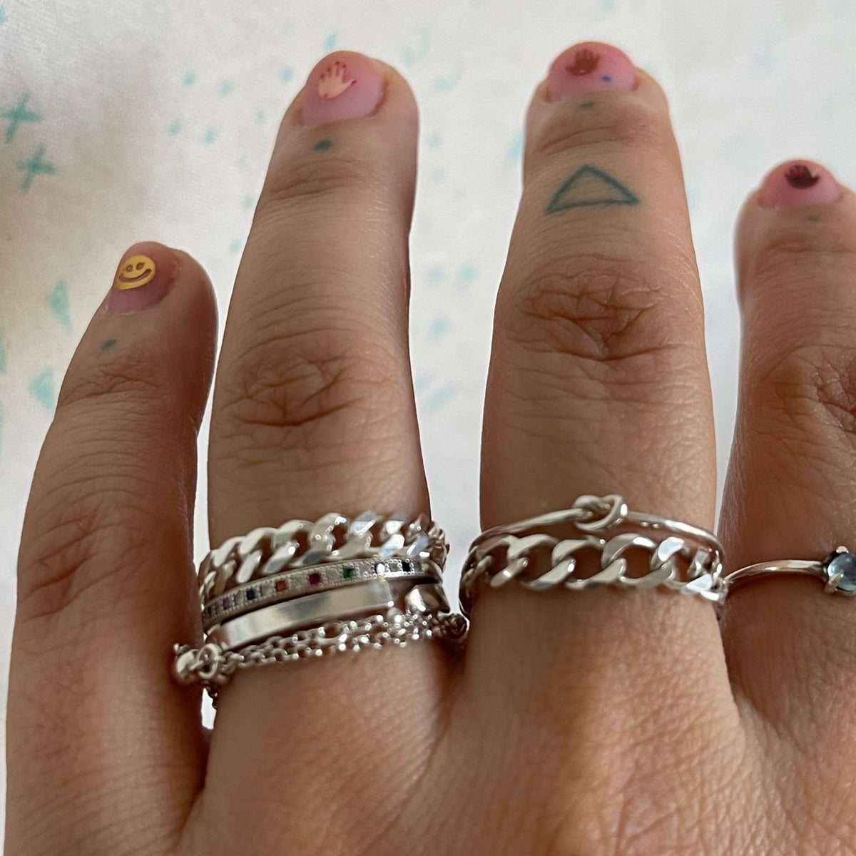 Image of small cuban chain ring