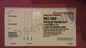 Image of Hot Chip Afterparty ticket
