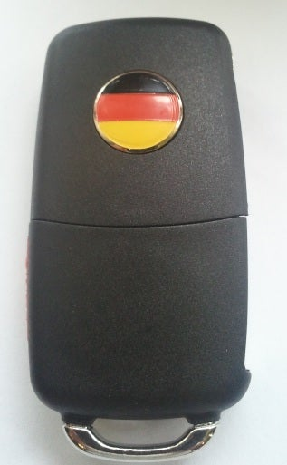 Image of 14mm German Flag Key FOB Emblem
