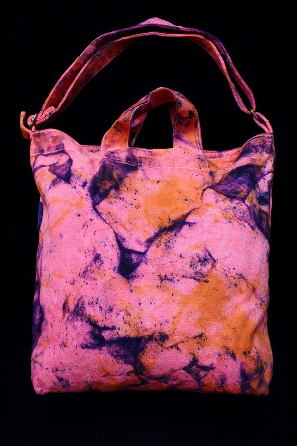 "Image of Tote Bag, Coral ""Magmatic Earthquake"" Pattern"