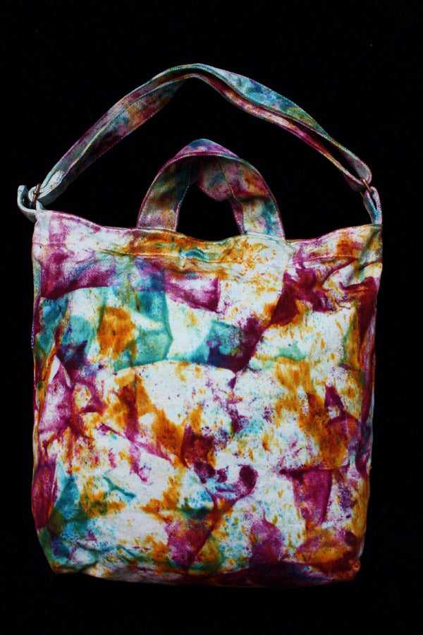 "Image of Tote Bag, Seafoam ""Magmatic Earthquake"" Pattern"