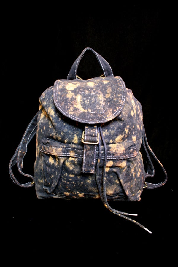 """Image of Backpack, Black """"The Universe is Expanding"""" Pattern"""