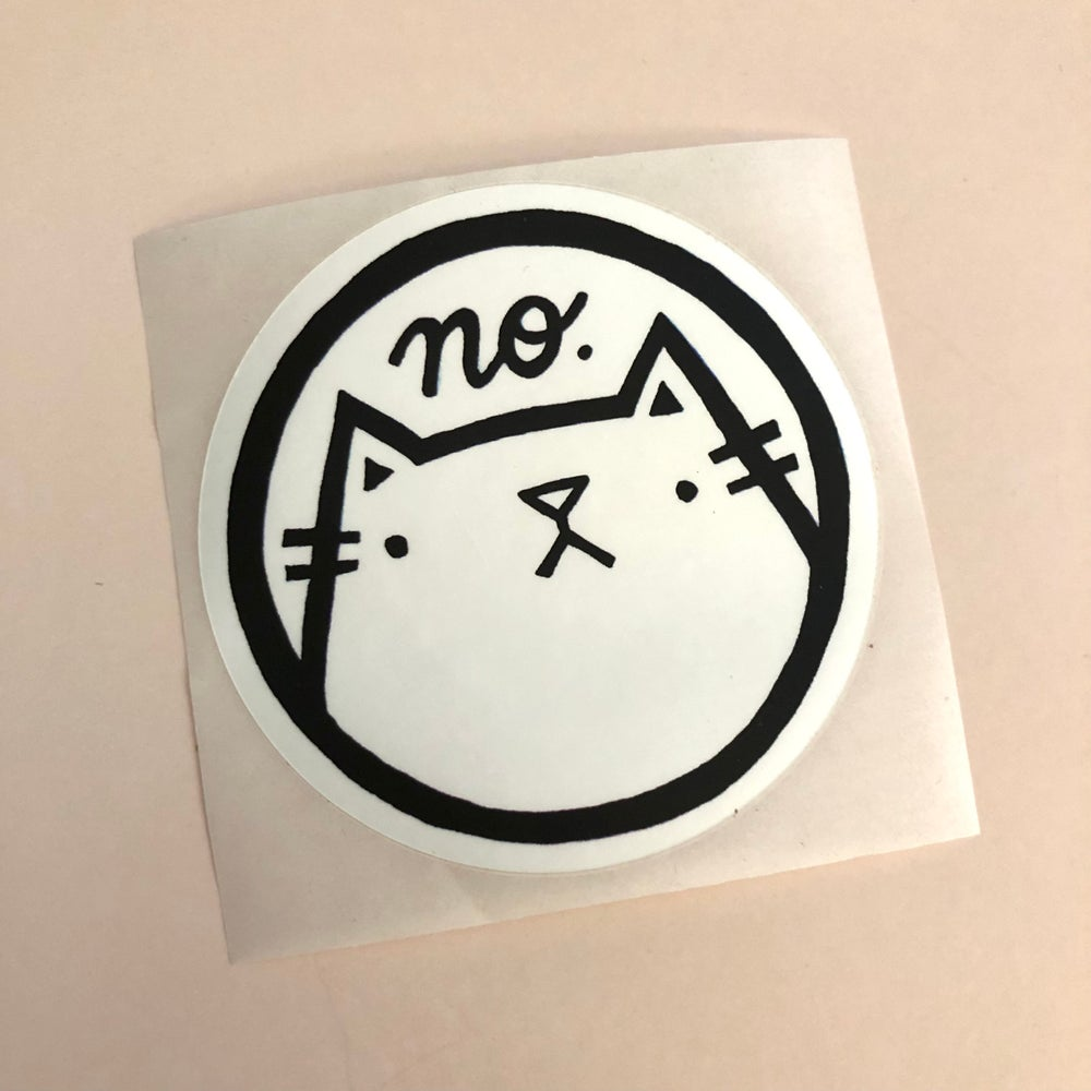 Image of no cat sticker