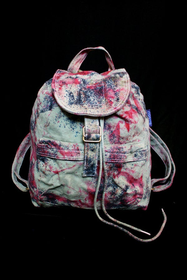 "Image of Backpack, Sage ""Magmatic Earthquake"" Pattern"