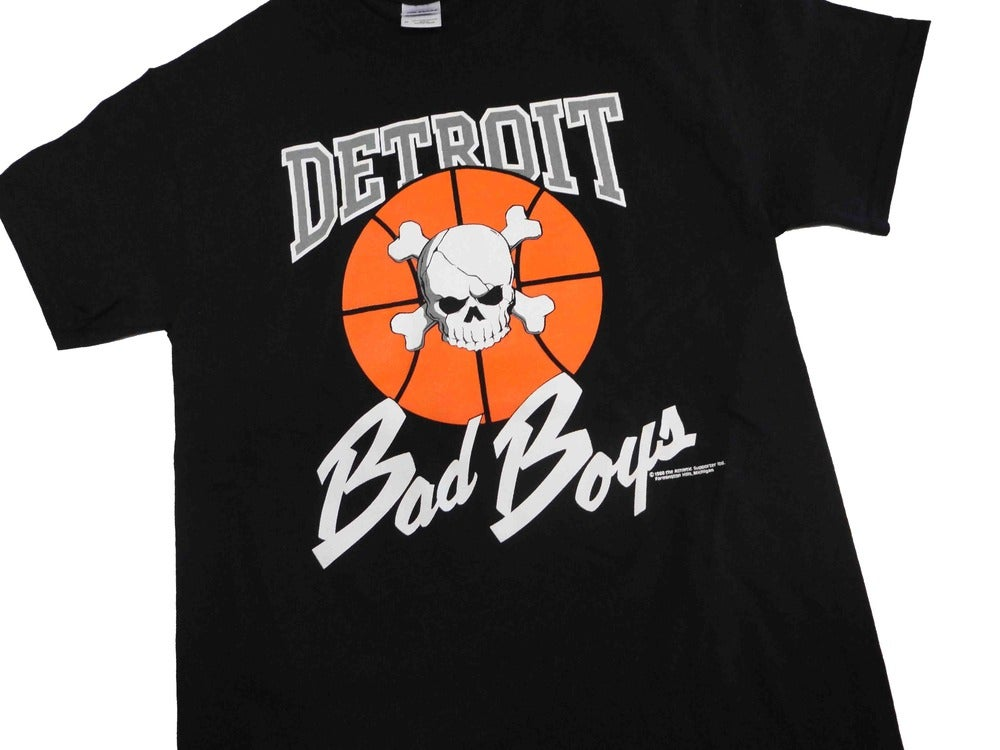 Image of Vintage Retro Detroit Pistons Bad Boys Shirts
