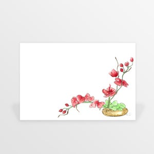Image of april flowers folded cards (set of ten)