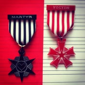 Image of Martyr & Victim Medals Red, White & Black
