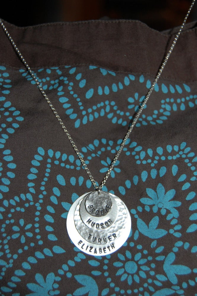 Image of Sterling Silver Layered Disc Necklace