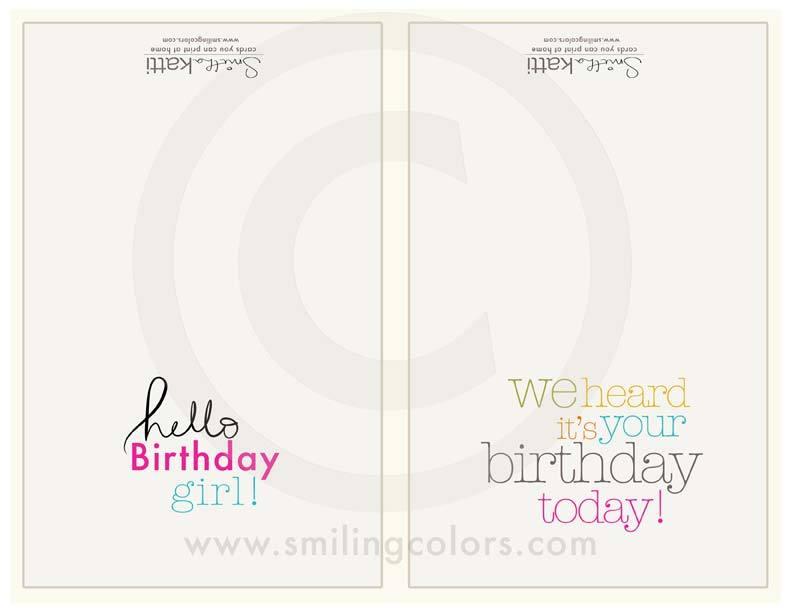 Image of Happy Birthday Girl